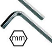 Immagine per la categoria Chiavi maschio esagonale piegate in millimetri